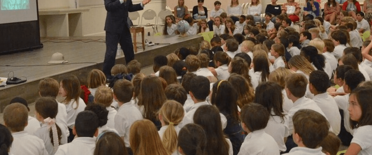 EWTN news anchor and best-selling author Raymond Arroyo visited Our Lady of Sorrows Catholic School as a part of its Ultimate Author Day celebration last year.