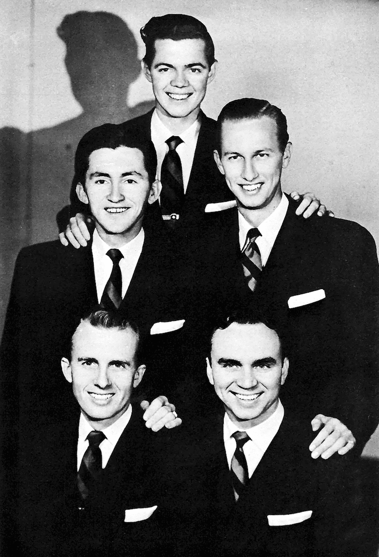 <em>Witness history and great Gospel music at the Samford Wright Center June 30. The evening will be a tribute to Gospel greats RW Blackwood (front R) and Bill Lyles (front L) who died in a plane crash June 30 1954.</em>