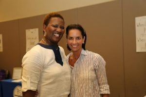 <em>Cancer survivor Carla Youngblood with her St. Vincent's Birmingham physician, Dr. Susan Salter, at the St. Vincent's Cancer Survivors Day event.</em>