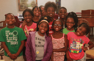 <em>Campers gathered at Central Park Baptist Church in Ensley for Daniel Cason K.I.D.S. (Kids in Divine Service) Camp designed to reach children with the Good News.</em>
