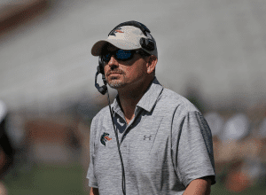 """<em>""""There's bringing it back and there's bringing it back the right way. I think we're bringing it back the right way,"""" says Bill Clark of the reinstated football program at UAB. The Blazers game on Sept. 2 at Legion Field marks the first since the program was eliminated in 2014. Photos Courtesy UAB Athletics</em>"""
