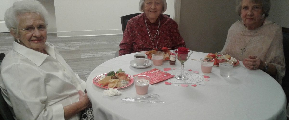 Senior Scene The Valentine's Dance at Peachtree's Independent Living_residents