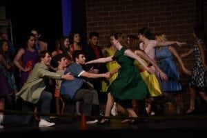 """<em>Claudia Butler and April Kirby choreographed """"The dance at the gym.""""</em>"""