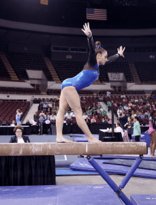 <em>Anna Davis successfully balances being a student at Kingwood Christian School with being a state champion gymnast.</em>