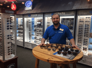 <em>Vaughan Jones at Mark's Outdoors will help you select the best pair of glasses for you and offers onsite service for minor repairs to Costa eyewear which comes with a lifetime warranty.</em>