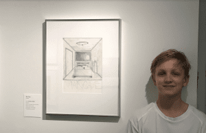 <em>OLS student Houston Alford's artwork is on display at the Birmingham Museum of Art.</em>