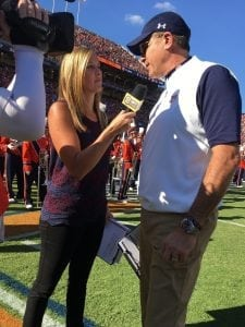 Sisler's role at SEC Nation includes sideline interviews with coaches like Alabama's Nick Saban and Auburn's Gus Malzahn.
