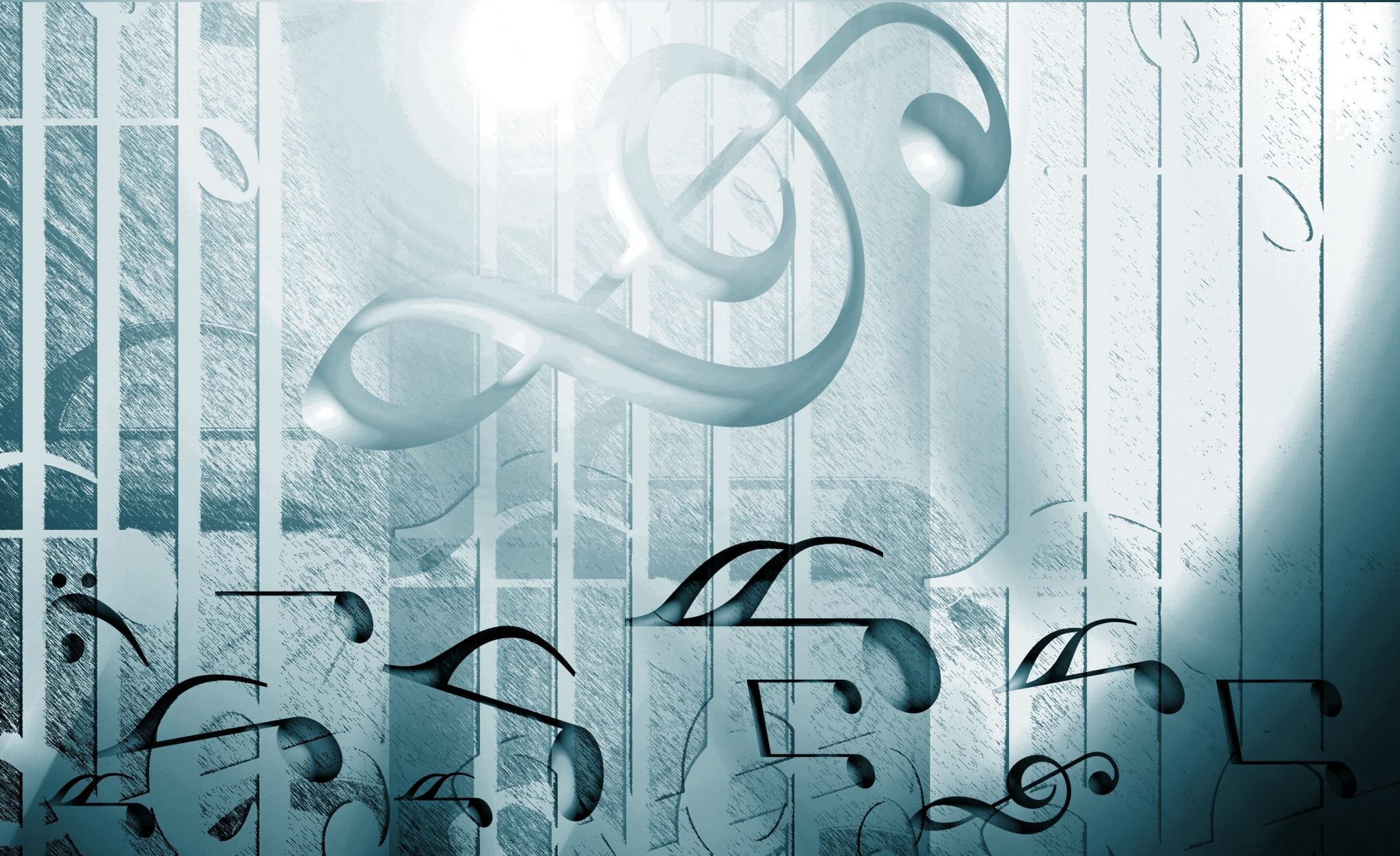 Modern music background template Vector Free
