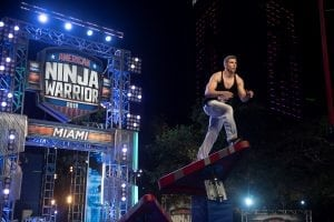 """I'm an adventurous person at heart, I'd go jump out of a plane right now if I had a plane to jump out of. I'm just that kind of a guy, that's the kind of a heart that God put in me,"" says American Ninja Warrior's Eddy Stewart, who earned the nickname ""Flex La Pec"" from show hosts Matt Iseman and Akbar Gbaja-Biamila. Photo: NBC, American Ninja Warrior"