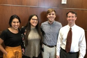 Reader Survey Samford Brock School of Business Survey Team 2 horizontal From L to R Mollie Master Alessandra Sisto Peyton Dishon Clif Eason