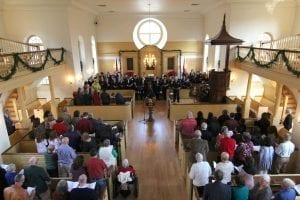 The American Village's fifteenth annual Festival Service of Nine Lessons and Carols will be held Sunday, December 2 at 5 p.m. in the Lucille Ryals Thompson Colonial Chapel. Music will be provided by the Montevallo Community Chorale and organist Dr. Laurie Middaugh. The service is free, and no reservations are required.