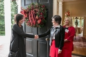 City Scene Christmas Home Tour Westmoreland at door