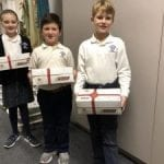 OLS Students Deliver Boxes of Joy