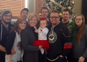 Chris and Emilee Danielson with children and grandchildren. Left to right: Nick Van Slett (Son in Law), Hannah Van Slett (Daughter), Zackary (Son), Emilee (Wife) Riley (Granddaughter) Jacob (son), Chris Danielson, Chris Stone (Son in Law), Dana Stone (Daughter)
