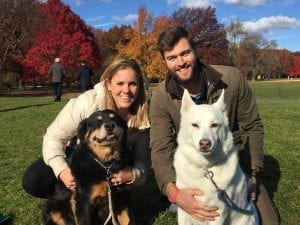 Former professional and U.S National soccer player Catherine Reddick Whitehill now lives in Atlanta with her husbandRobert and dogs Izzy (rescued from the side of I-405 in Los Angeles) and Maeby (rescued by the Society for the Prevention of Cruelty to Animals in North Carolina).
