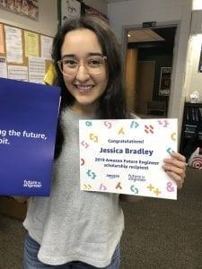 High School Senior Jessica Bradley wins Future Engineer Scholarship from Amazon.