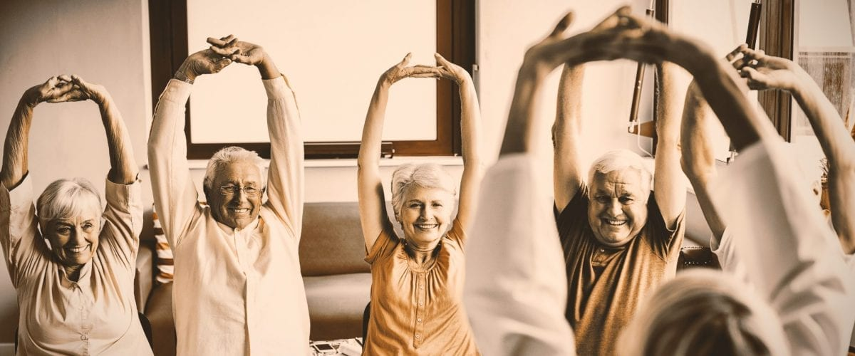 bigstock Seniors doing exercises in a r 290471260