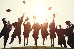 college scholarship recipient and finalists featured image cap and gown