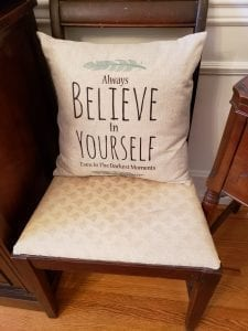 Sanctuary Girl also has a wide assortment of pillow covers with uplifting messages, $12 each.
