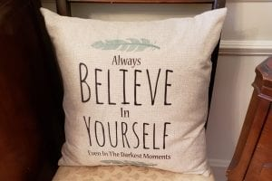 Cool Stuff Sanctuary Girl Believe Pillow