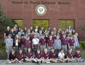 Students from Prince of Peace School in Hoover, Ala. were recently recognized for their outstanding artwork.