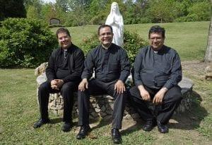 Fr. Jorge H. Pedroza, Fr. Jose Luis Guevara Gomez, and Fr. Antonio Verdin at Prince of Peace Catholic Parish in Hoover, Ala, www.popcatholic.org.