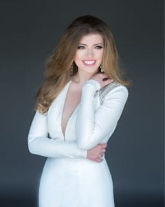Miss Camelia 2019, Isabella Powell, will compete in the Miss Alabama pageant June 5-8, 2019 at Samford University. She is pursuing a Bachelor of Music degree in Vocal Performance at the University of Alabama.special feature miss alabama contestant Powell evening gown IMG 4216
