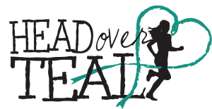 Head Over Teal Heart Logo