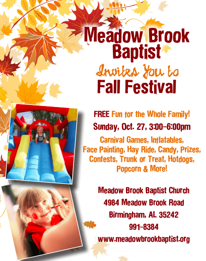 Meadow Brook Baptist Fall Festival Birmingham Christian Family Magazine
