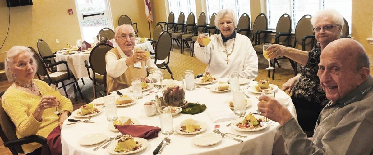 Senior Scene Brookdale residents at lunch
