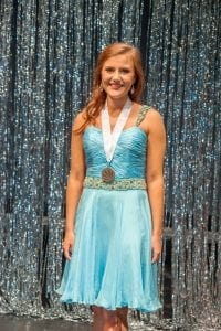 Distinguished Young Women of Jefferson County 2019 Winner Emmy Beason Blue dress