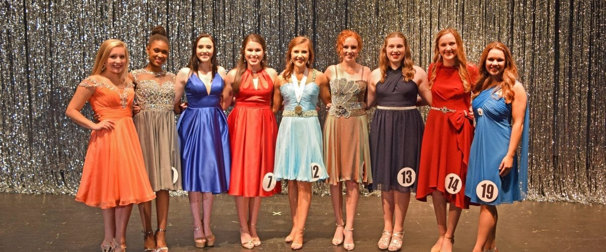 Distinguished Young Women of Jefferson County Top 9 Group Photo