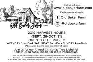 Old Baker Farm Main Photo with Logo Info