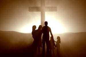 bigstock Family at the Cross of Jesus C 8053906