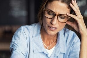 bigstock Portrait of stressed mature wo 264938812