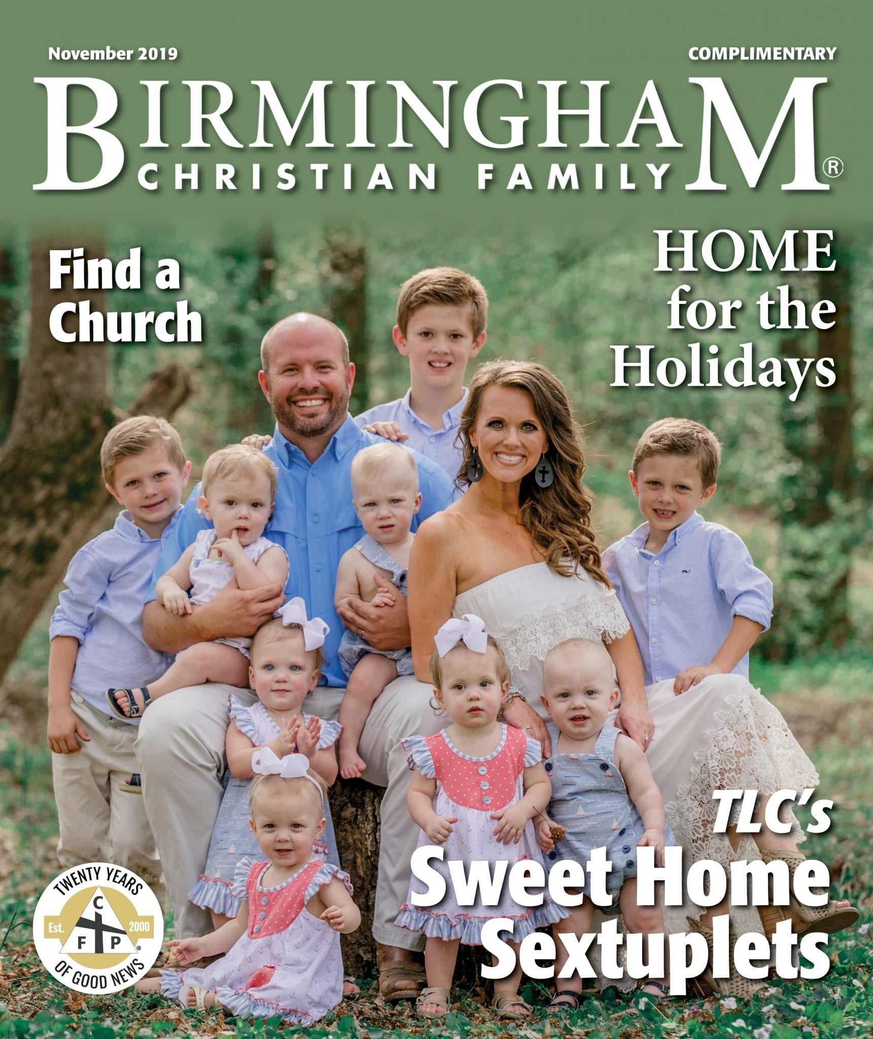 BCF Cover November 19 Sweet Home Sextuplets