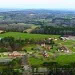 special feature American Village Aerial Shot Wide