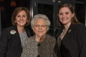 Trudy Cathy White with mom Jeannette and daughter Angela