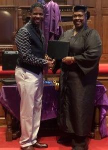 Tracy Steverson diploma