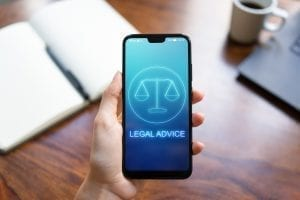 bigstock Legal Advice Icons On Mobile P 273158689