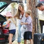 bigstock Family and children load car w 289158649