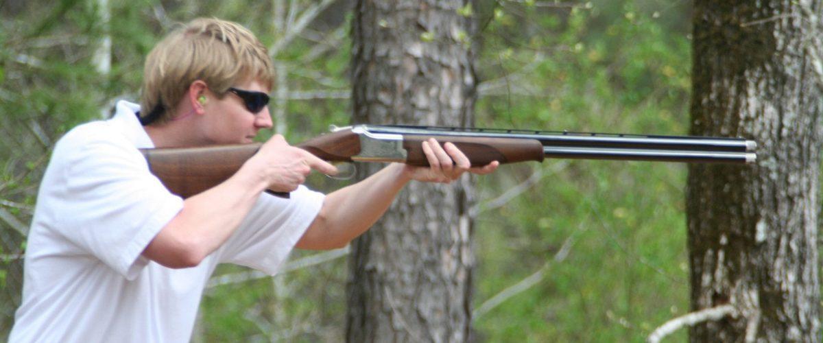 Man Clay Shooting