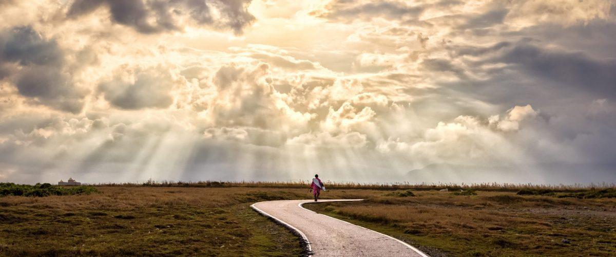 bigstock A Person Walking Alone Along S 276271147