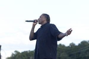 Lecrae Singing on Stage