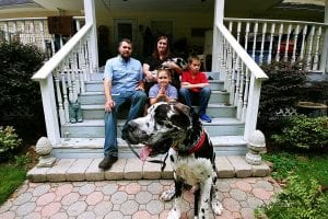 Miracle Moments Fire Family on Steps