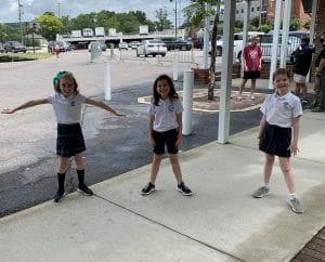 OLS School Students Outside