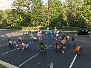 Special Feature parking lot ministry meadow brook baptist