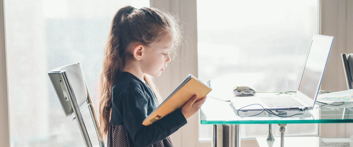 bigstock School Girl Is Studying Onlin 361797427