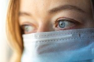 bigstock Woman Wearing Medical Mask Wo 356520329