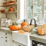 Our House Decorating the Seasonal Table Charlottes Happy Home Nov 20 shelving 1